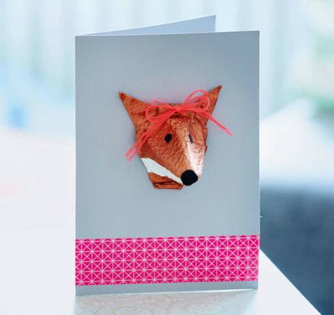 Fuchskarte in 3D Bastelanleitung