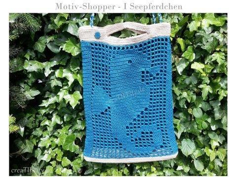 Motiv-Shopper No. I Seepferdchen - Häkelanleitung
