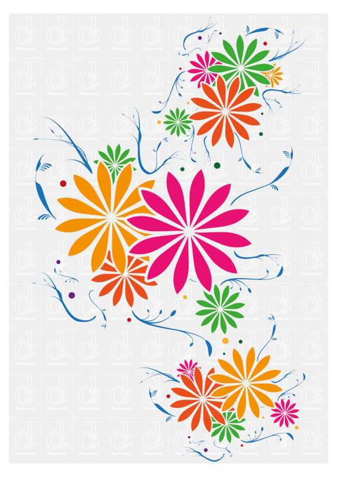 Blumenmuster  1 - Schneideplotter Datei © Danzayart bei Makerist