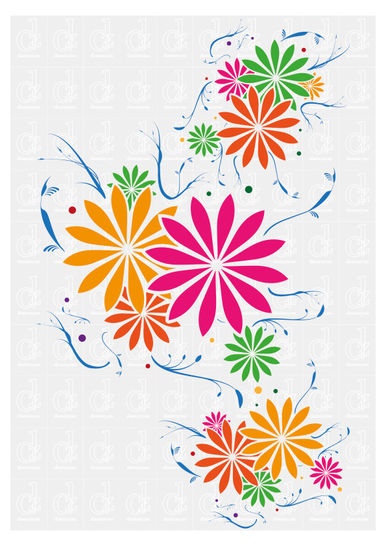 Floral Pattern - plotter cutting file © Danzayart at Makerist - Image 1