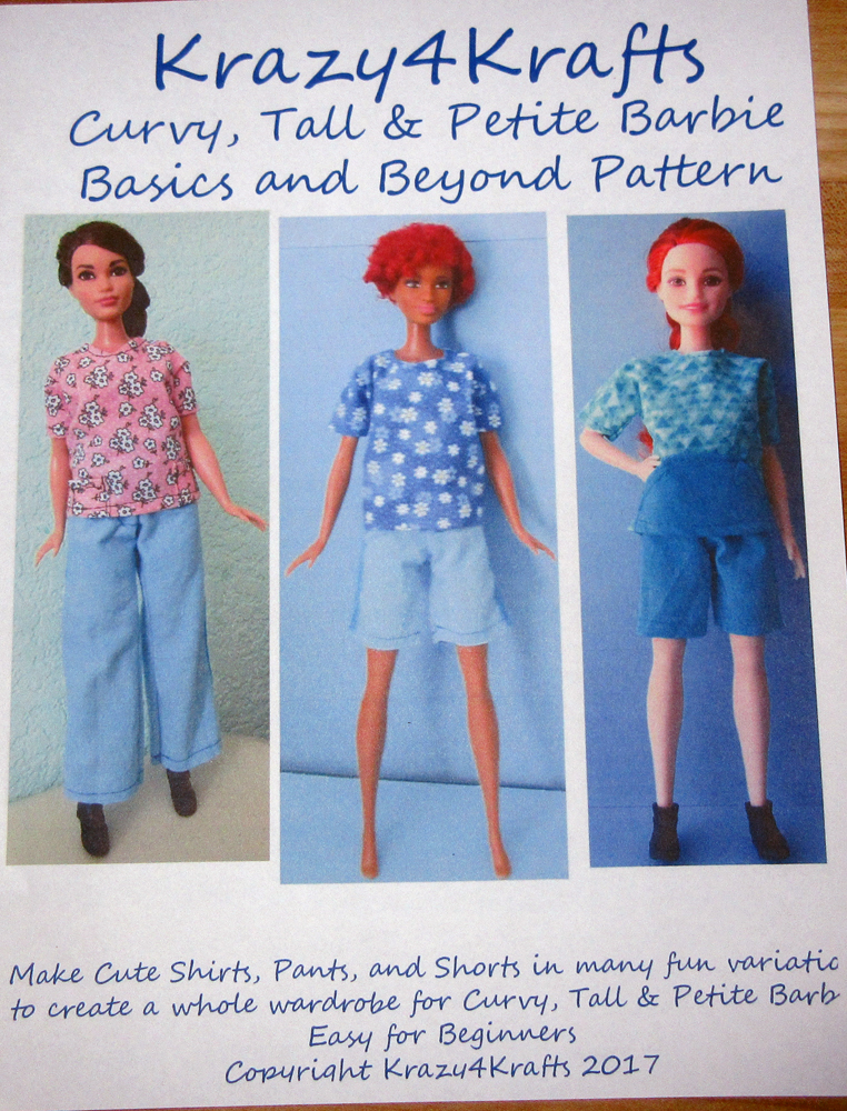 Barbie Curvy, Tall and Petite Doll Basics and Beyond PDF Sewing Pattern