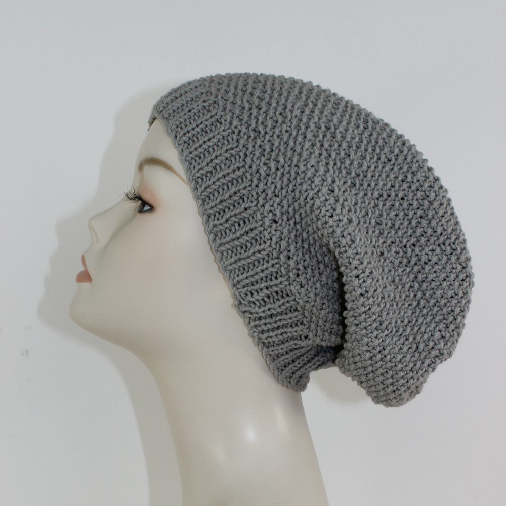FREE Moss Stitch Slouch Hat Circular