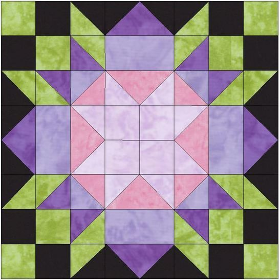 Rebecca's Flower 15 Inch Block Template Pattern PDF at Makerist - Image 1
