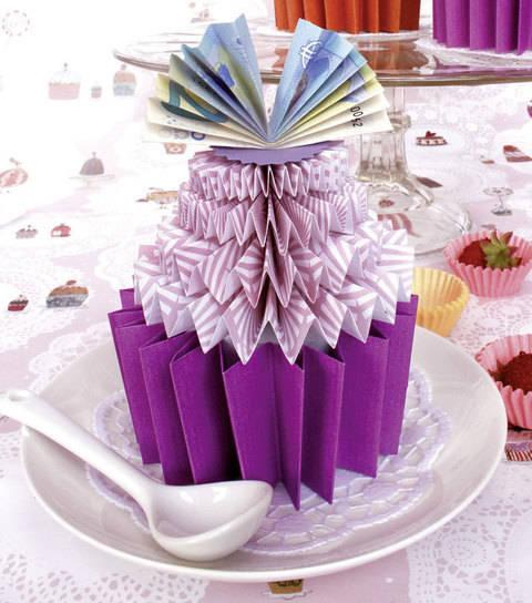 Cupcake mit Euro-Topping Bastelanleitung