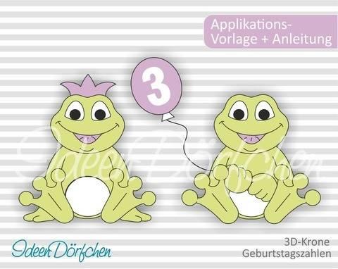 IdeenDörfchen - Applikationsvorlage Frosch Egon bei Makerist