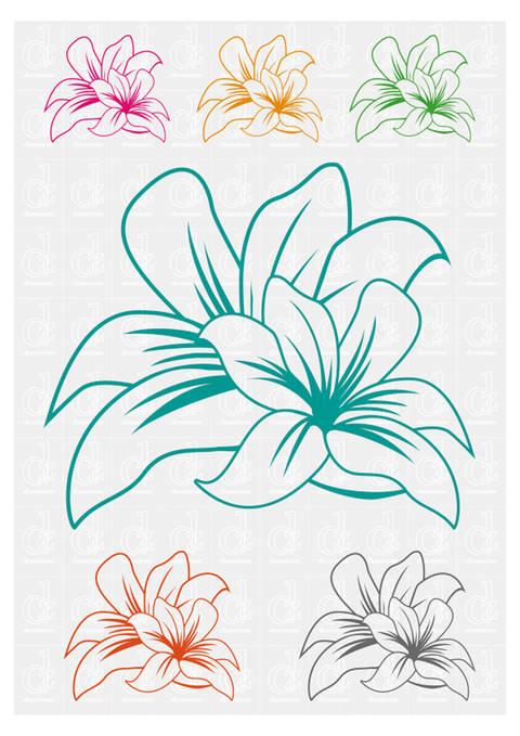 Blumen 2 - Schneideplotter Datei © Danzayart bei Makerist