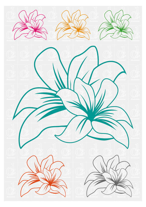 Flowers 2 - plotter cutting file © Danzayart