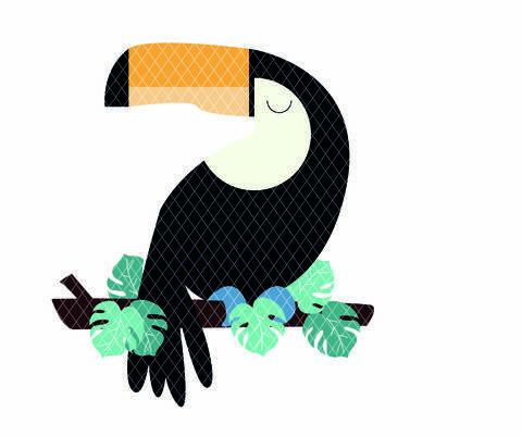 Motif toucan - fichier de découpe plotter