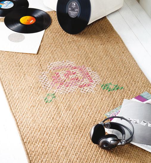 Rosiger Teppich Stickanleitung bei Makerist - Bild 1