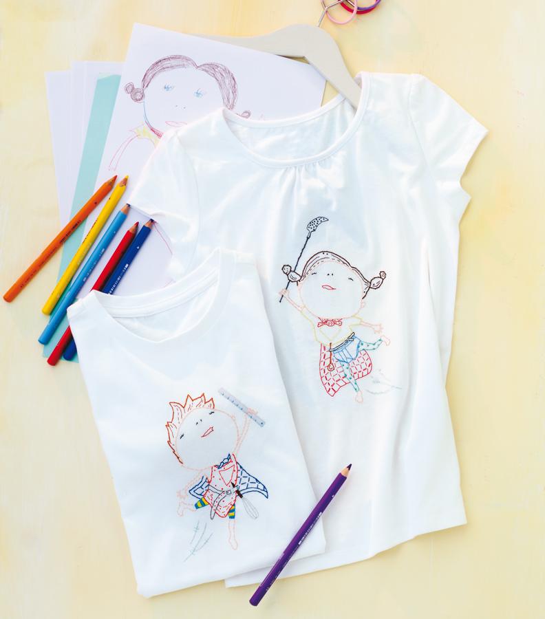 T-Shirts für Alltagssuperhelden Stickanleitung