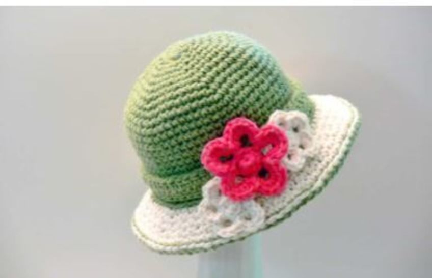 Crochet Women's Hat Sun Hat with Double Brim # 114G at Makerist - Image 1