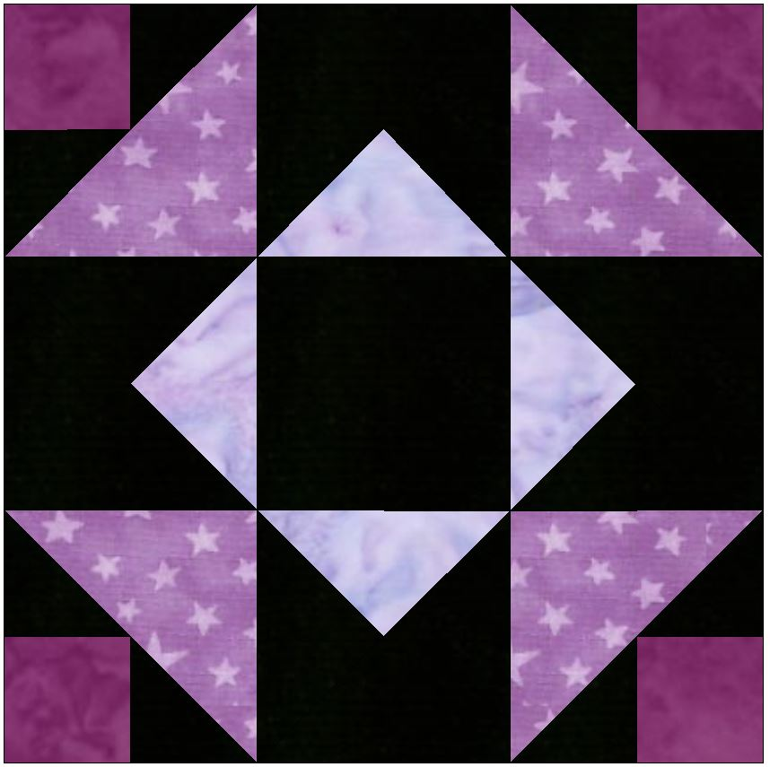 Independence Star 15 Inch Block Template Quilting Pattern