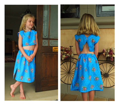 Crop Top and Pull-on Skirt Pattern.