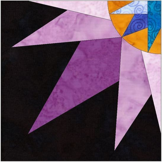 HC Quarter Star 10 Inch Paper Piecing Foundation Quilting Pattern at Makerist - Image 1