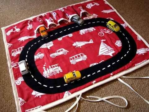 Car Play Mat Very Easy Quick Roll-up Car Storage,