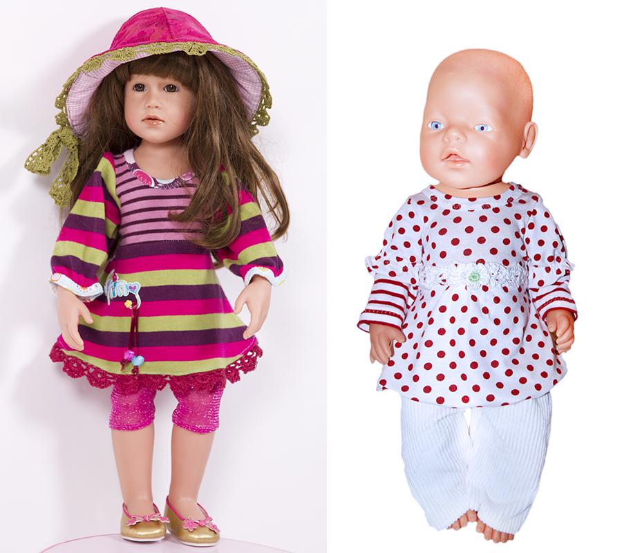 Tunika, Shrirt ULLA für Puppen, Nähanleitung und Schnittmuster