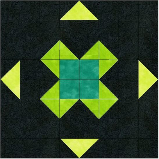 Find Luck Paper Piecing Foundation Quilting 10 Inch Block Pattern at Makerist - Image 1