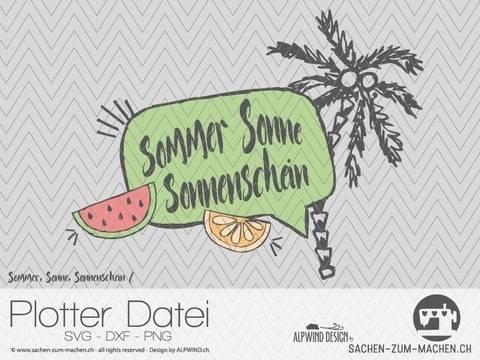 """Plotter-Datei """"Sommer Sonne Sonnenschein"""" #2 bei Makerist"""