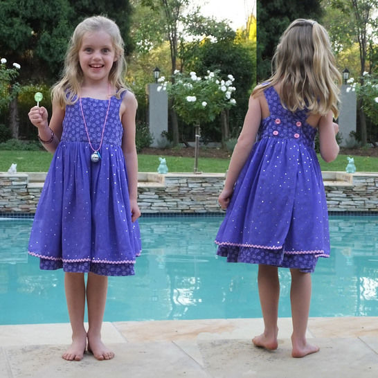 Little Girls Crossover Party Dress with Voile Apron at Makerist - Image 1