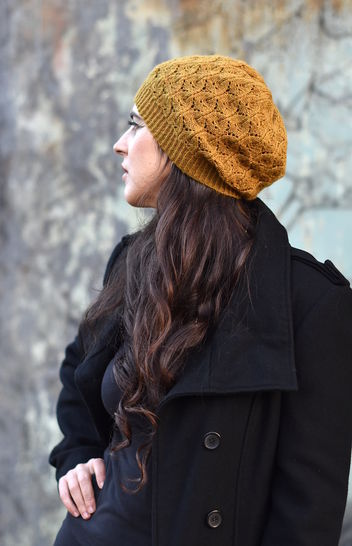 Cannetella slouchy lacey hat - knitting pattern at Makerist - Image 1