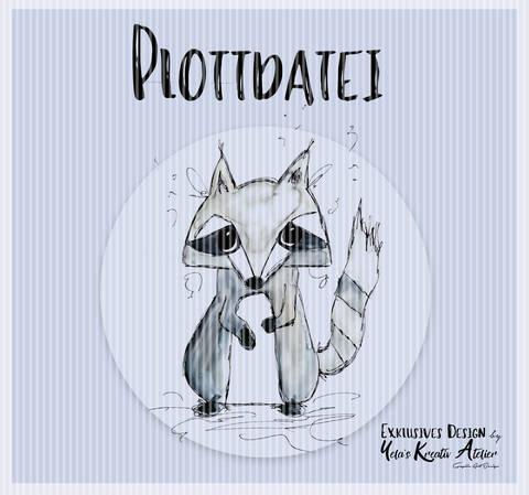 """Plotterdatei  Yela`s Kreativ Atelier """" Wanja Waschbär """""""