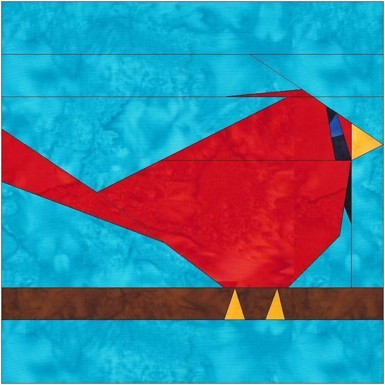 HC Cardinal Paper Piece Foundation Quilting Pattern at Makerist - Image 1