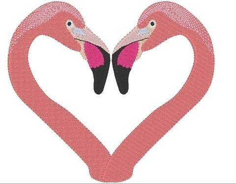 Flamingo love 13x18 Vollstickdatei bei Makerist