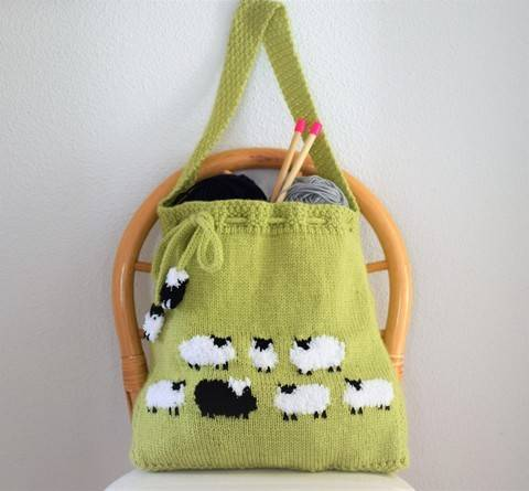 Flock of Sheep Knitted Bag