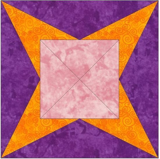 Y-Seam 15 Inch Block Quilting Template Pattern at Makerist - Image 1