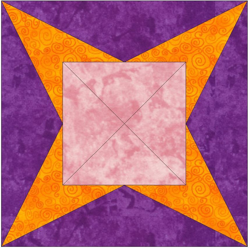 Y-Seam 15 Inch Block Quilting Template Pattern