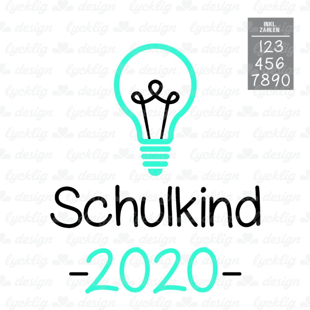 Plotterdatei Schulkind 2018 Glühbirne