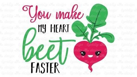 """Plotterdatei Radieschen """"You make my heart beet faster"""""""