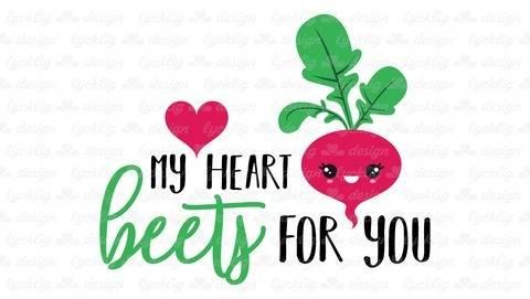 "Plotterdatei Radieschen ""My heart beets for you"""