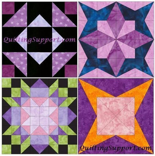 HC Star Set 1 of 15 Inch Block Quilting Template Patterns at Makerist - Image 1