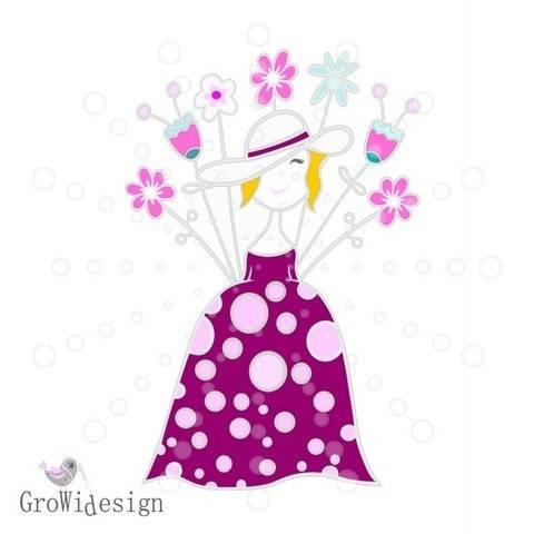 Flower Lady Plotterdatei