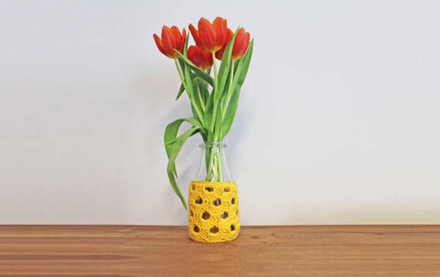 Häkelanleitung Vase Bogen bei Makerist - Bild 1