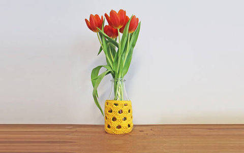 Häkelanleitung Vase Bogen bei Makerist
