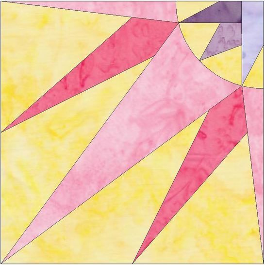 HC Quarter Star 2 - 10 Inch Paper Piecing Foundation Quilting Pattern at Makerist - Image 1