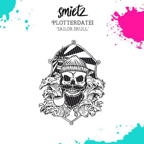 """Plotterdatei """"Sailor Skull"""" inklusive Minilizenz bei Makerist"""