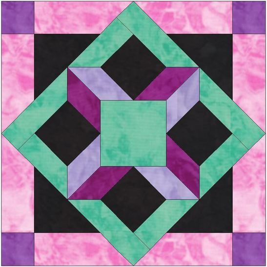 HC Window 15 Inch Block Template Pattern for Quilting at Makerist - Image 1