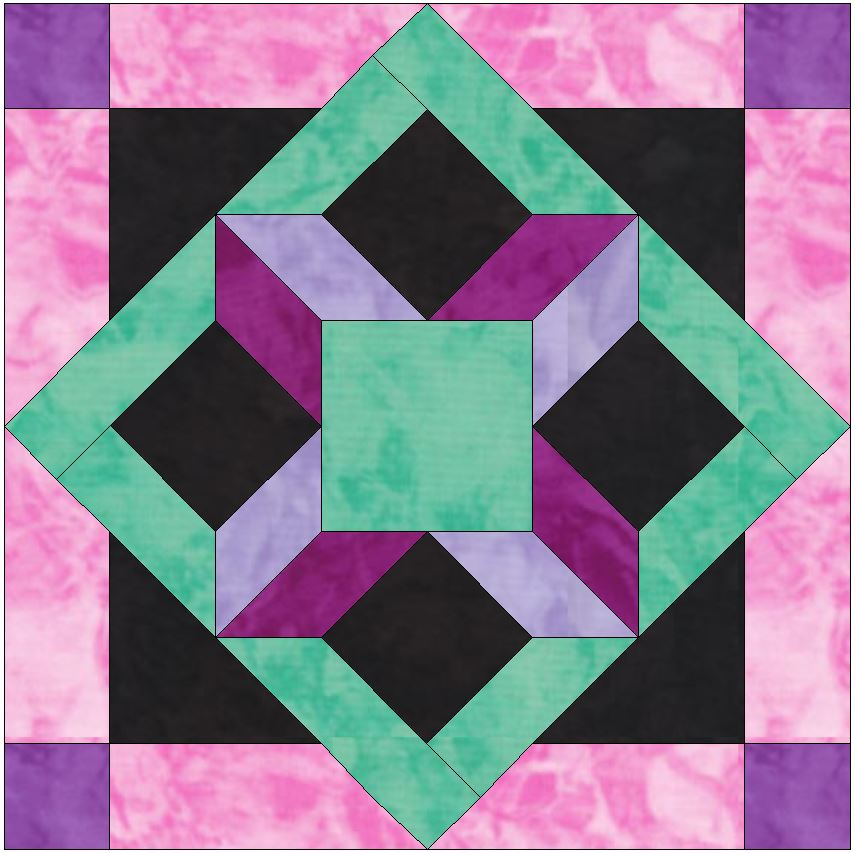 HC Window 15 Inch Block Template Pattern for Quilting