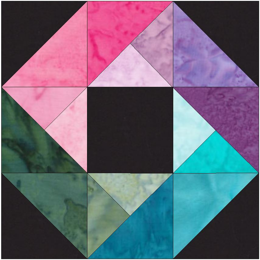 HC Rainbow Ring 15 Inch Block Template Quilting Pattern