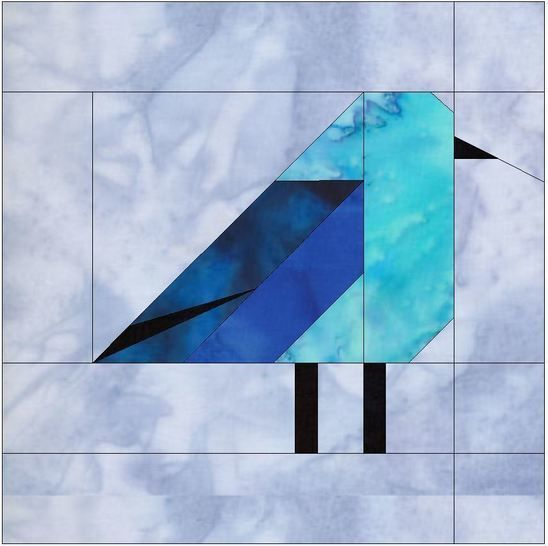 Mountain Bluebird 10 Inch Foundation Block Paper Piece Quilting  at Makerist - Image 1