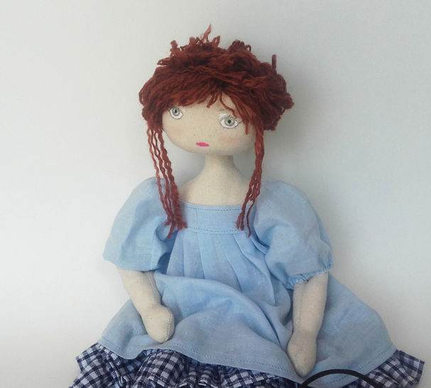Rag doll sewing pattern and tutorial - 35 cm (13,65 inches) tall - Nuumber 3 at Makerist - Image 1