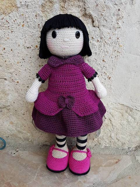 Tutoriel de Margot, poupée au crochet