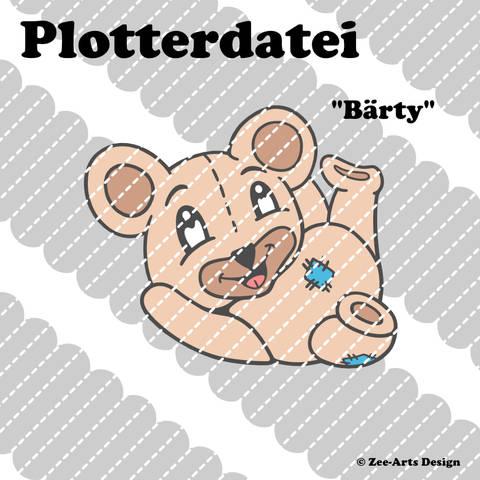 Plotterdatei Bärty (Teddy)