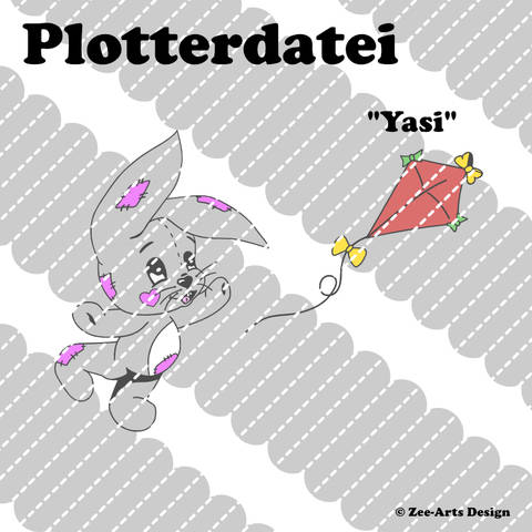 Plotterdatei Yasi (Hase mit Drache)
