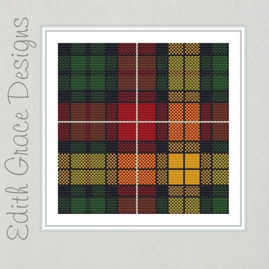 Buchanan Tartan Square Embroidery Pattern at Makerist - Image 1