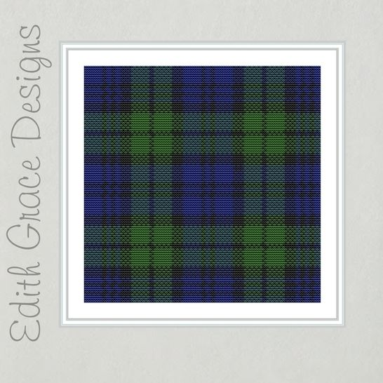 Campbell Tartan Square Embroidery Pattern at Makerist - Image 1