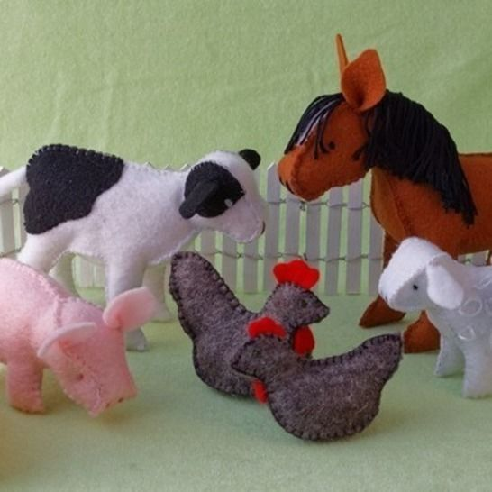 Felt Farm Animal Set, Patterns and Instructions at Makerist - Image 1